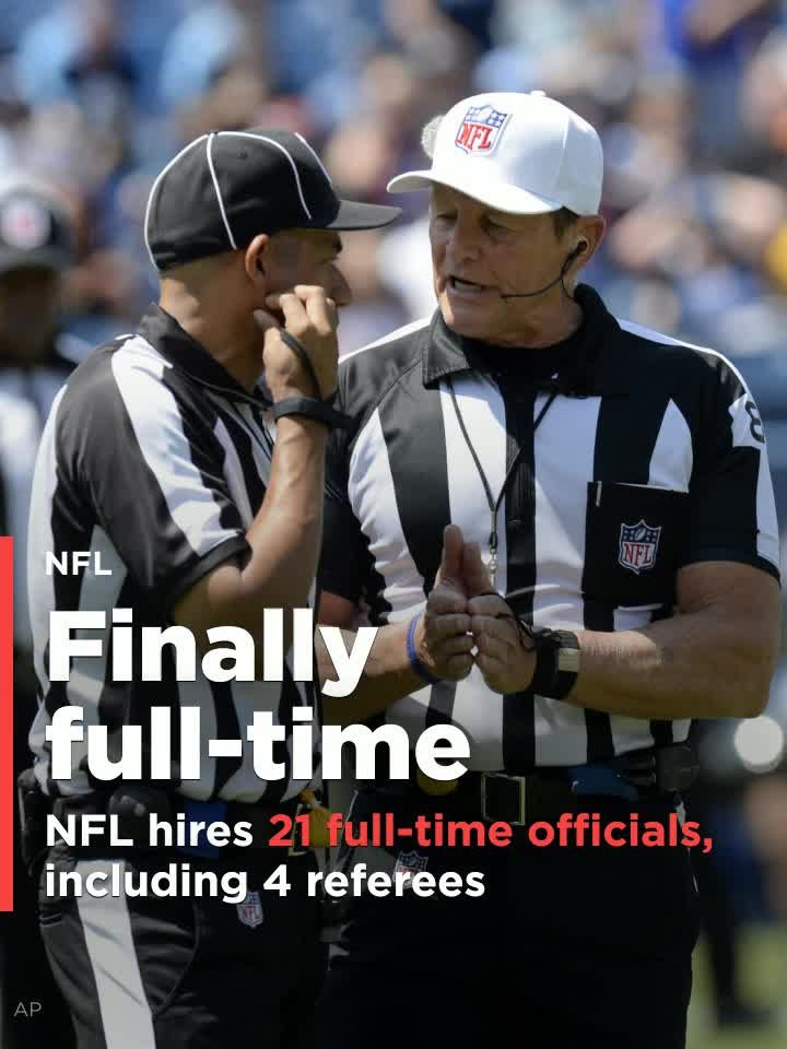 ff70287d8b5 NFL hires 24 full-time game officials