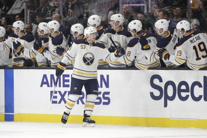 NHL roundup  Skinner s hat trick leads Sabres in rout - ScoresAndStats.com 986dd6bea