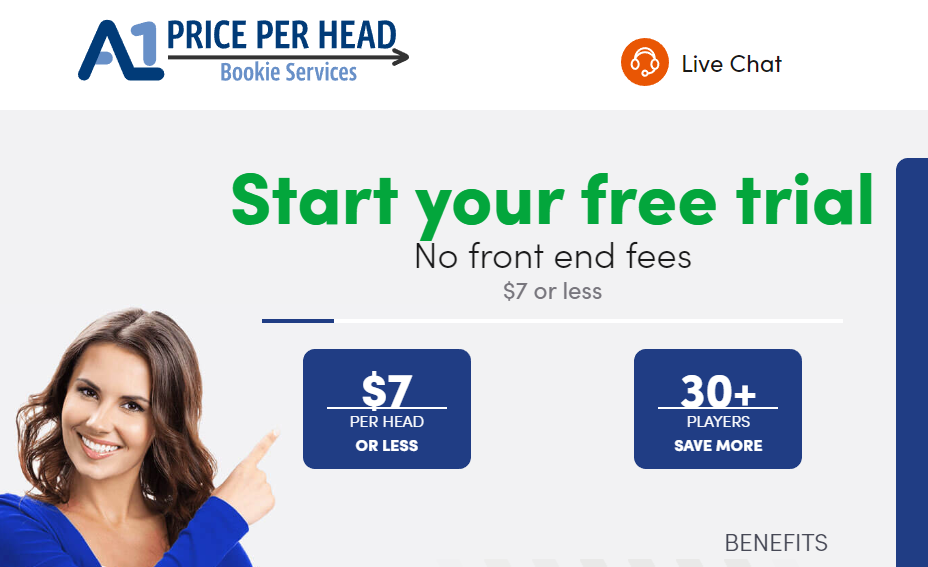 Screenshot from A1 Price Per Head website